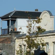 Habitat de la Place Stalingrard, détails de toiture. Bordeaux. Reproduction interdite - Tous droits réservés © Christian Coulais