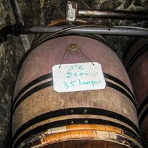 """Barrique d'élevage """"Premières côtes de Bordeaux."""" Château Roquebrune, Cénac, 2 octobre 2007"""