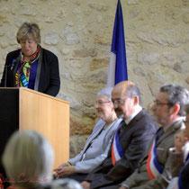Françoise Cartron, Suzette Grel et le Conseil municipal de Le Pout. 7 février 2015