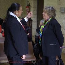 Martine Faure, Députée de Gironde avec Françoise Cartron, Sénatrice de Gironde. Suzette Grel, Chevalière de l'Ordre national du Mérite, Le Pout, Gironde