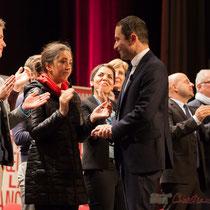 Benoît Hamon remercie les Jeunes Socialistes.  Théâtre Fémina, Bordeaux #benoithamon2017