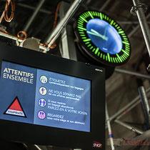 Vigipirate, conseils de sécurité sur plusieurs pages de l'écran. Gare Saint-Jean, Bordeaux