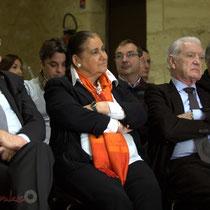 Jean-Marie Darmian, Martine Faure, Philippe Madrelle. Remise de l'Ordre national du Mérite à Suzette Grel. Le Pout. 7 février 2015