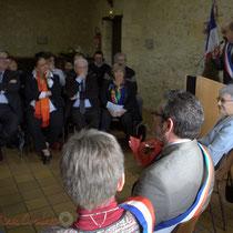 Discours de Michel Nadaud, Maire de le Pout. Remise de l'Ordre national du Mérite à Suzette Grel.