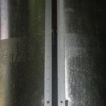 Condensation sur paroi inox de la partie jus de raisin. Château Roquebrune, Cénac, 2 octobre 2007