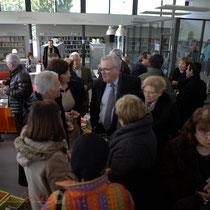 Inauguration de La Source, pôle culturel et social de Sallebœuf, en présence de Jean-Marie Darmian et son épouse