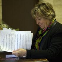 Françoise Cartron, dernières touches au discours. Suzette Grel, Chevalière de l'Ordre national du Mérite, Le Pout, Gironde