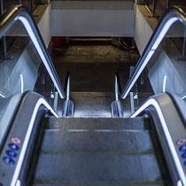 """""""Escale à tort"""". Escalier mécanique, Gare Saint-Jean, Bordeaux"""