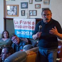 Réunion publique intercommunale du groupe d'appui local de l'Entre-Deux-Mers de la France Insoumise. 6 avril 2017, Langoiran