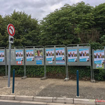 Neutralisation insoumise de panneaux électoraux non enlevés ou nettoyé des affiches du 1er tour