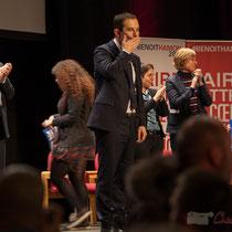 Benoît Hamon salut telle ou telle connaissance. Théâtre Fémina, Bordeaux #benoithamon2017