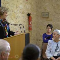 Discours de Françoise Cartron, Vice-présidente du Sénat à l'attention de Suzette Grel. Le Pout. 7 février 2015