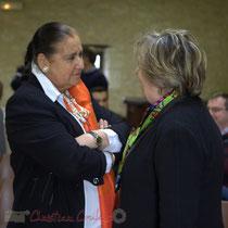 Martine Faure, Députée de Gironde avec Françoise Cartron, Sénatrice de Gironde. Le Pout.