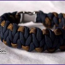 Armband mit Acetal Schnalle in den Farben Jeans Blue und Gold
