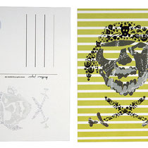 Postkarte Pirat grün