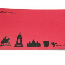 Postkarte Hannover rot