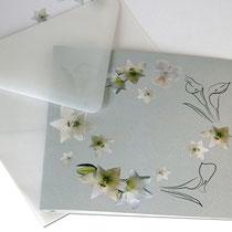 besondere Trauerkarte - 14 x 14 cm