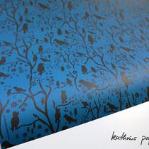 Geschenkpapier Vögel blau