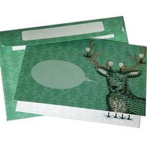 -ausverkauft- Weihnachtskarte Hirsch mit Umschlag