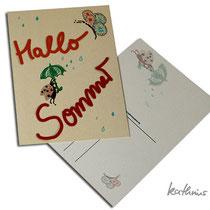 Postkarte Hallo Sommer