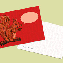 Postkarte Eichhörnchen mit Sprechblase