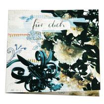 Geburtstagskarte 14 x 14 cm mit Umschlag