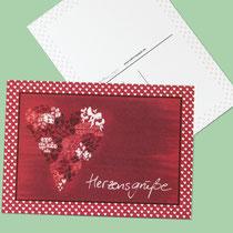 Postkarte Herzensgrüße