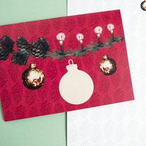 Weihnachtskarte Baumkugeln