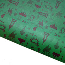 Geschenkpapier Hannover gelb, Recyclingpapier, 70 x 100 cm