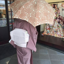 栗山紅型 日傘