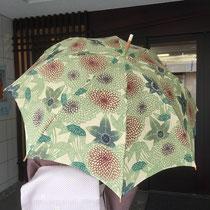 栗山紅型 日傘 菊柄