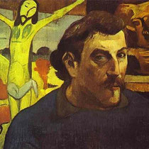 Self Portrait with Yellow Christ (1889)