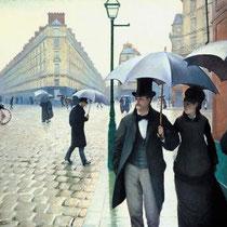 La place de leurope temps de pluie (1877)