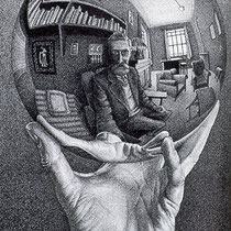 Hand with Reflective Sphere (1935)
