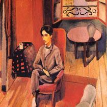 Jean Cocteau dans son atelier (1916)
