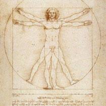 Etude de l'Homme de Vitruve (1492)