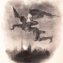 Mephistopheles flying over Wittenberg (1828)