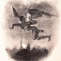 Mephistopheles flying over Wittenberg (1828)