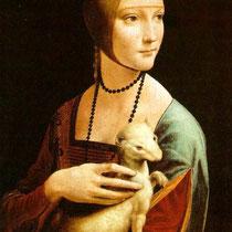 La dame à l'hermine, Portrait de Cecilia Gallerani  (1490)
