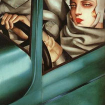 Self Portrait in the Green Bugatti (1925)