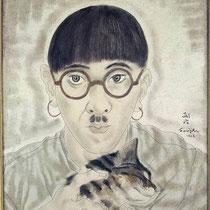 Autoportrait au chat (?)