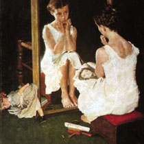 Girl at Mirror (1954)