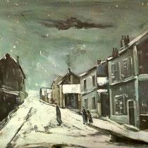 Route sous la neige à Chaudais (1925)