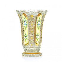 Vase à fleurs en verre de Bohême
