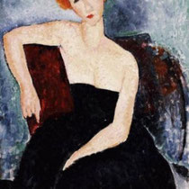 Young Redhead in an Evening Dress (1918)