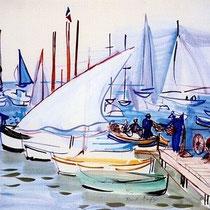 Bateaux de pêcheurs à Cannes (1940)