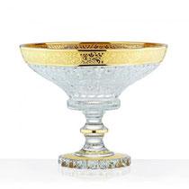 Coupe en or et cristal de Bohême