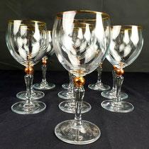 Verres à vin en cristal de Bohême