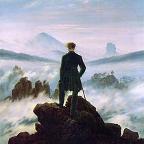 The wanderer above the sea of fog (1818)
