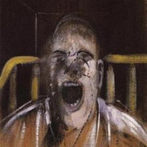 Study for the head of a screaming pope (1952)